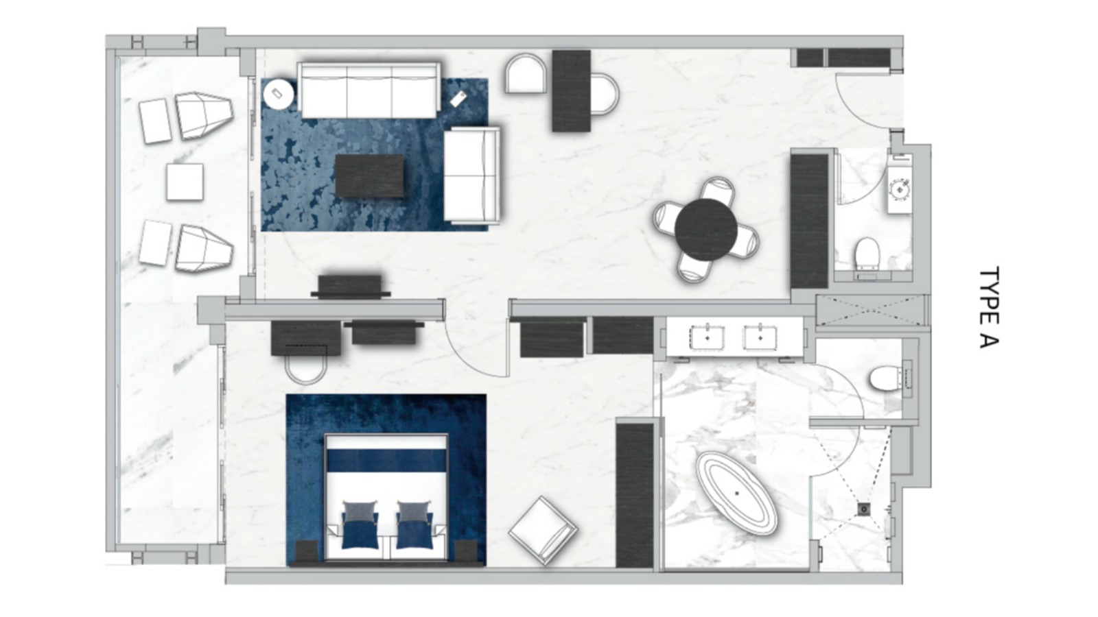 Floor Plan of Lifestyle Suite,  Sea View (Adults Only)