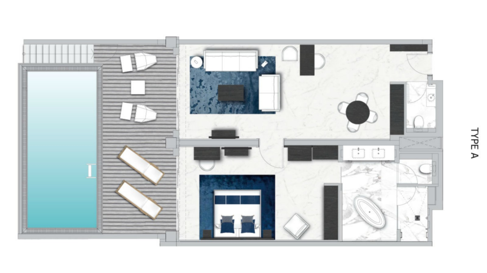 Floor Plan of Lifestyle Suite with a Private Pool (Adults Only)